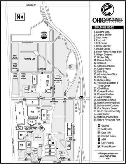 Ohio Expo Center Map