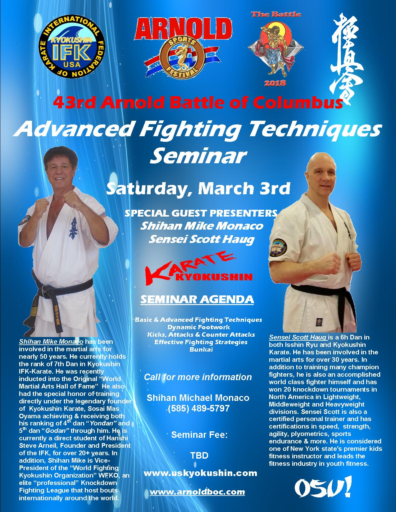 Kyokushin Advanced Fighting Techniques Seminar